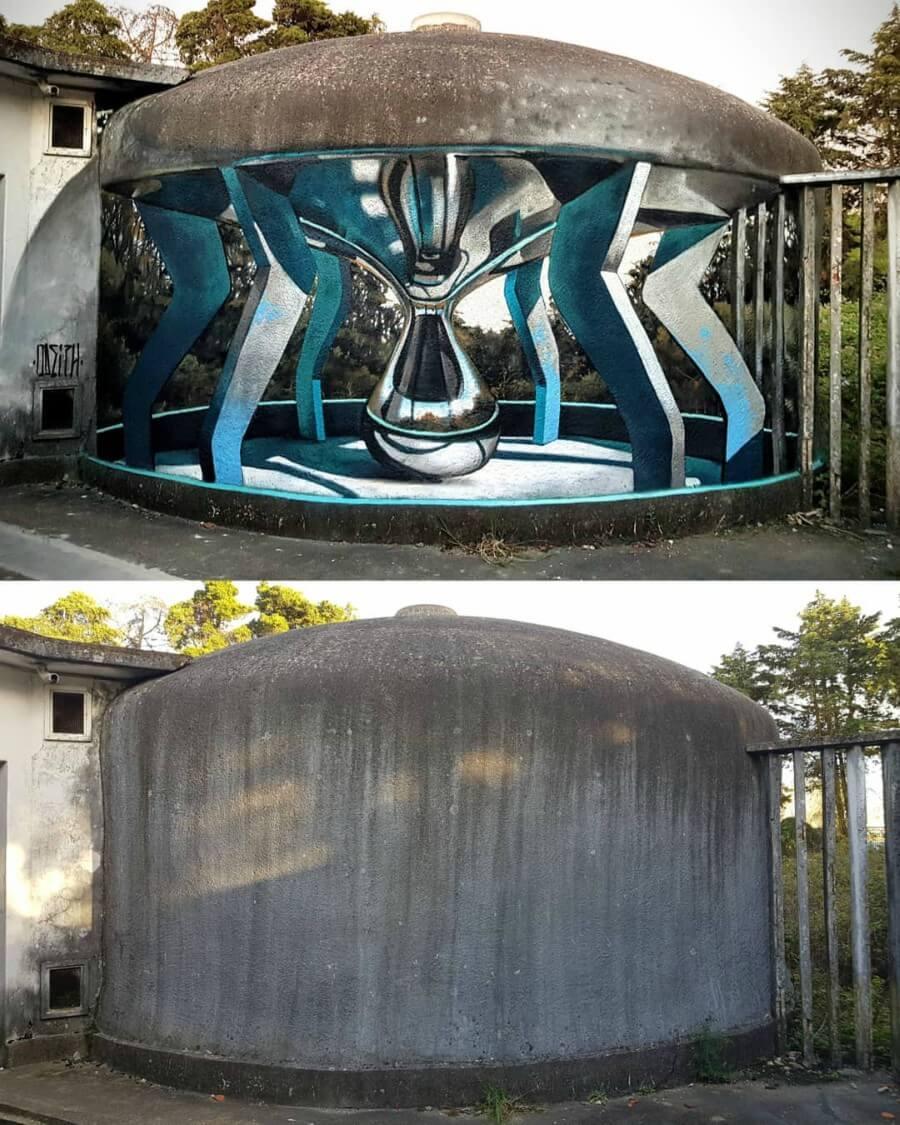 3D realism mural