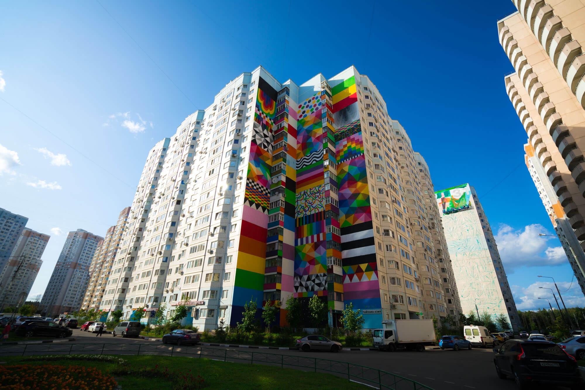 Okuda presenta mural en Rusia
