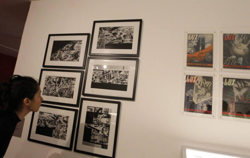 fotografía de Renau y el muralismo mexicano