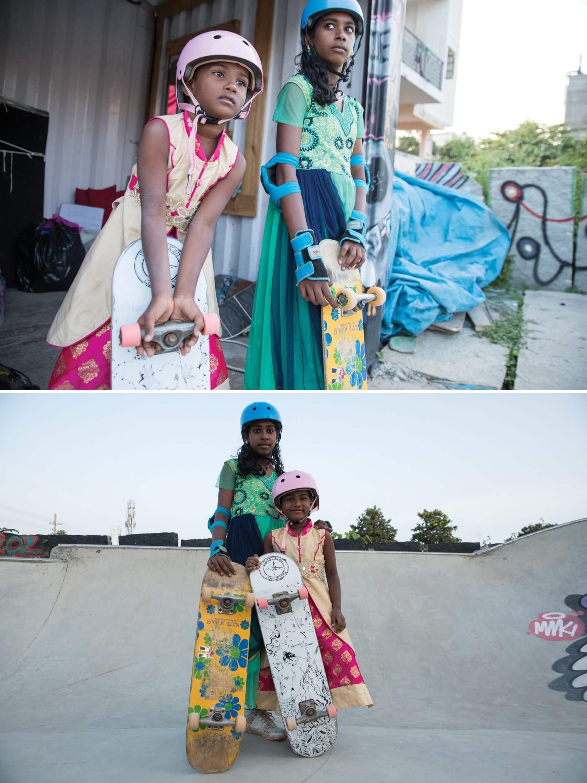 skater girls in India