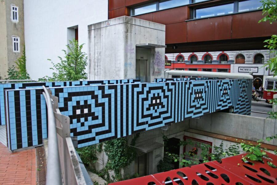 obra de arte urbano en Viena