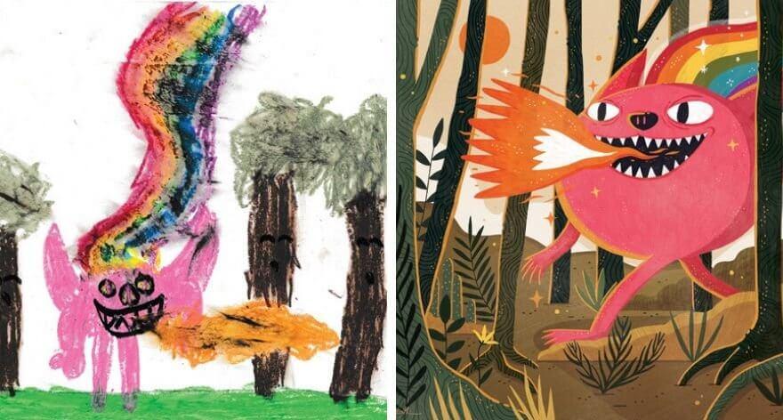 The Monster Project, recrea dibujos hechos por niños