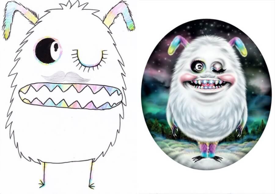 The Monster Project recrea dibujos hechos por niños