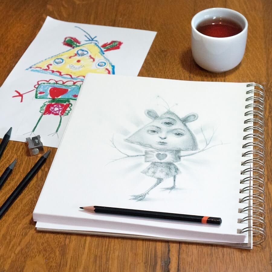 el proyecto recrea dibujos hechos por niños
