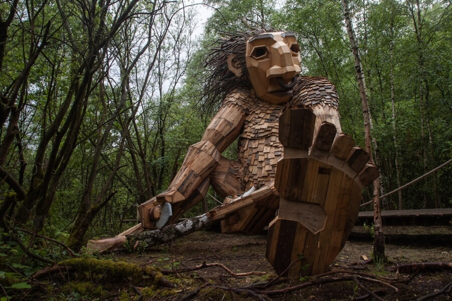 Esculturas del artista en Bélgica