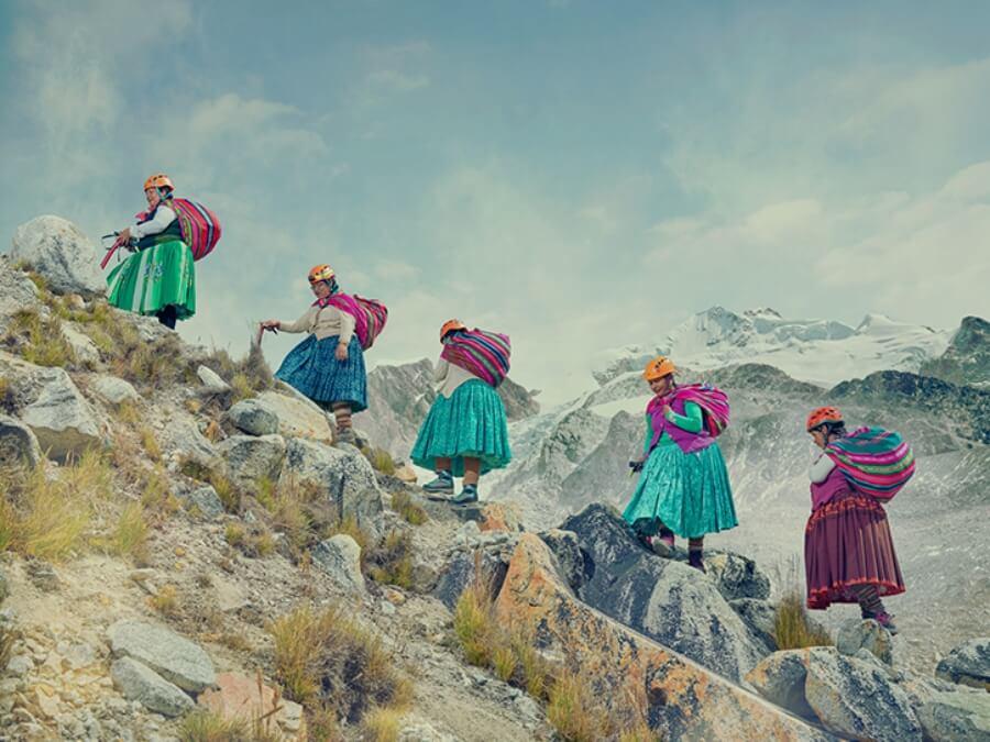 Mujeres aymara luchando