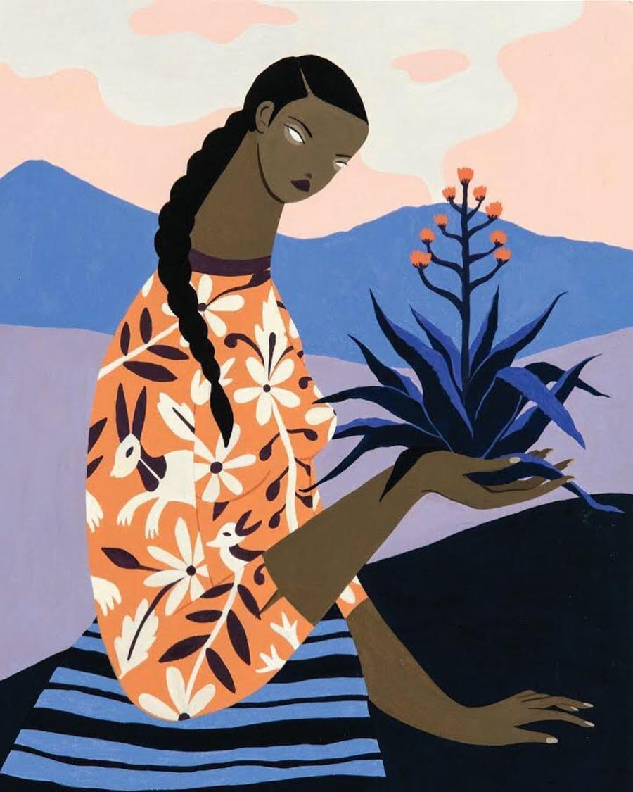 Hilda Palafox en feria de arte