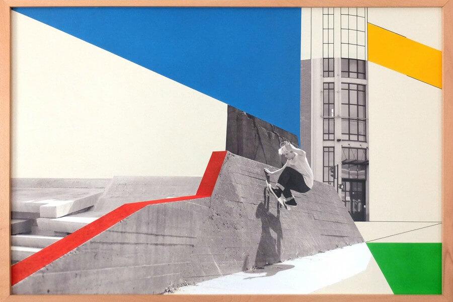collage de fotografía de skate