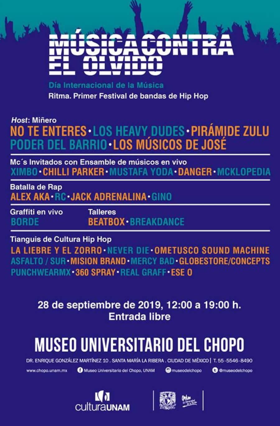 Ritma, festival de hip hop en El Chopo