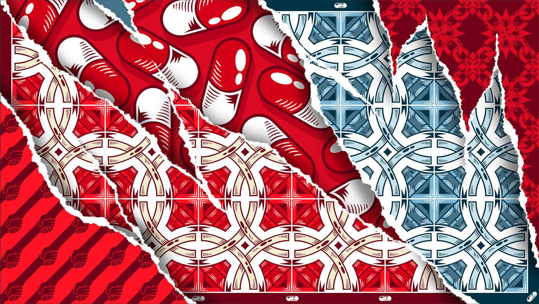 obra digital para la campaña de (RED)