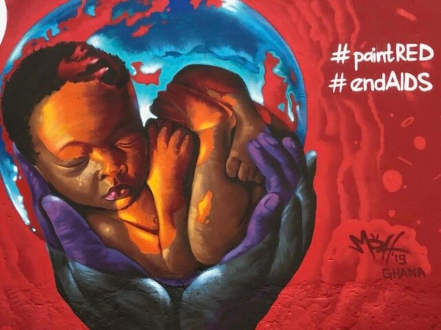mural en Ghana