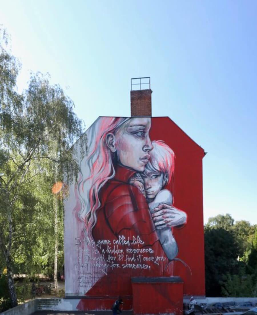 mural de HERA en Berlín, Alemania