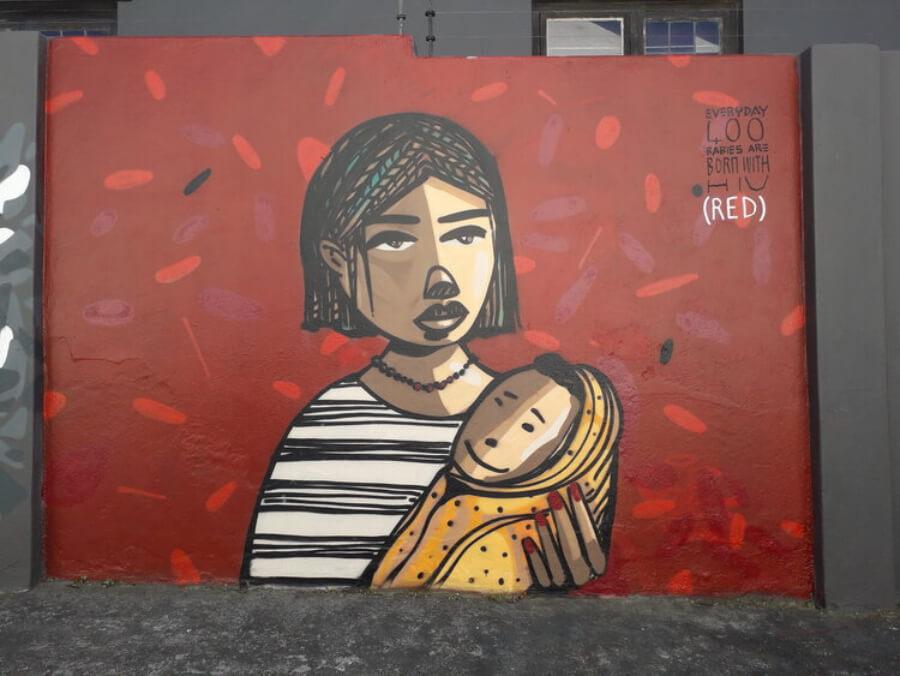 Mural en Cape Town, Sudáfrica