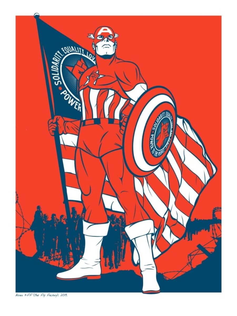 Captain America en exposición Memento Mori