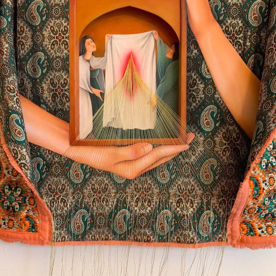 La obra de la artista reflexiona en torno a los derechos humanos