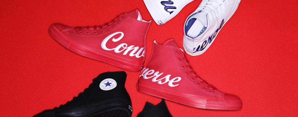 Converse lanza modelo 'Giant Script Logo'