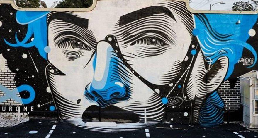 Dourone y su estilo de graffiti humanista