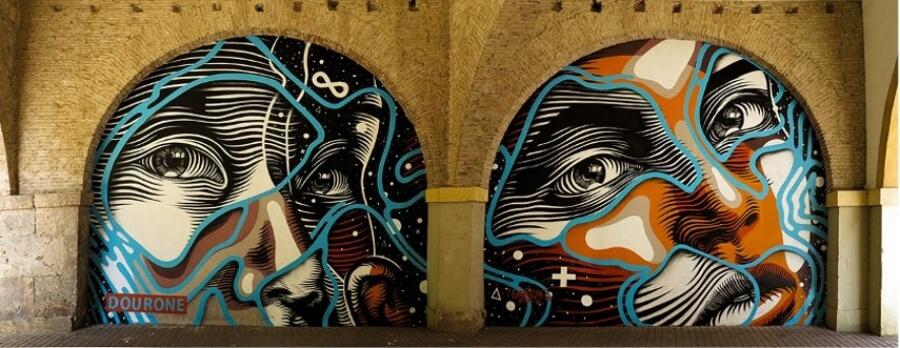 Dourone y si estilo de graffiti humanista