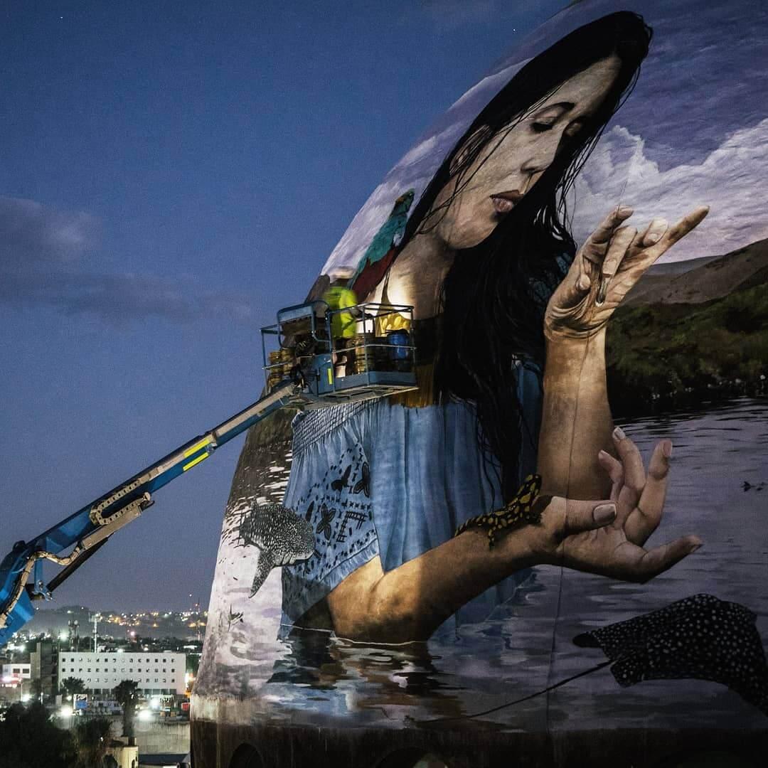 mural El baile del agua en Querétaro