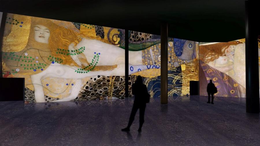 exposición inmersiva de Klimt en SEvilla