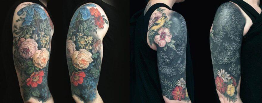 Esther García: cuadros de flora y fauna hechos tatuaje