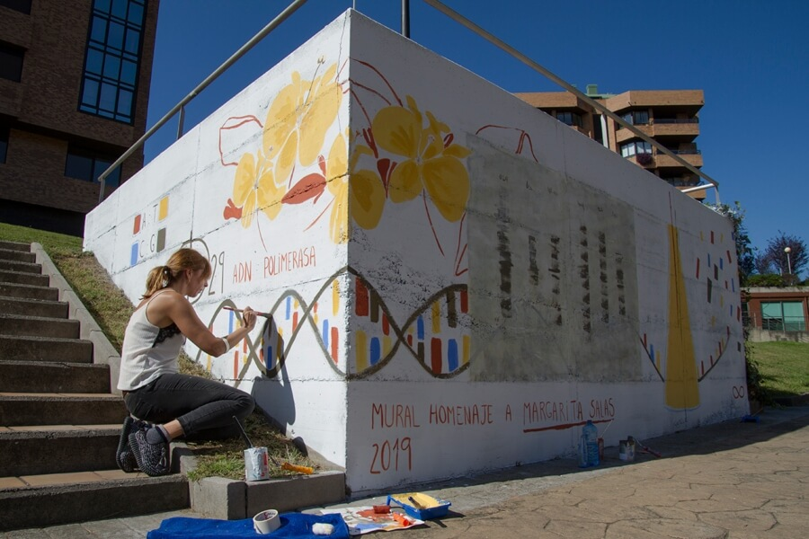 Proceso del mural de Catalina
