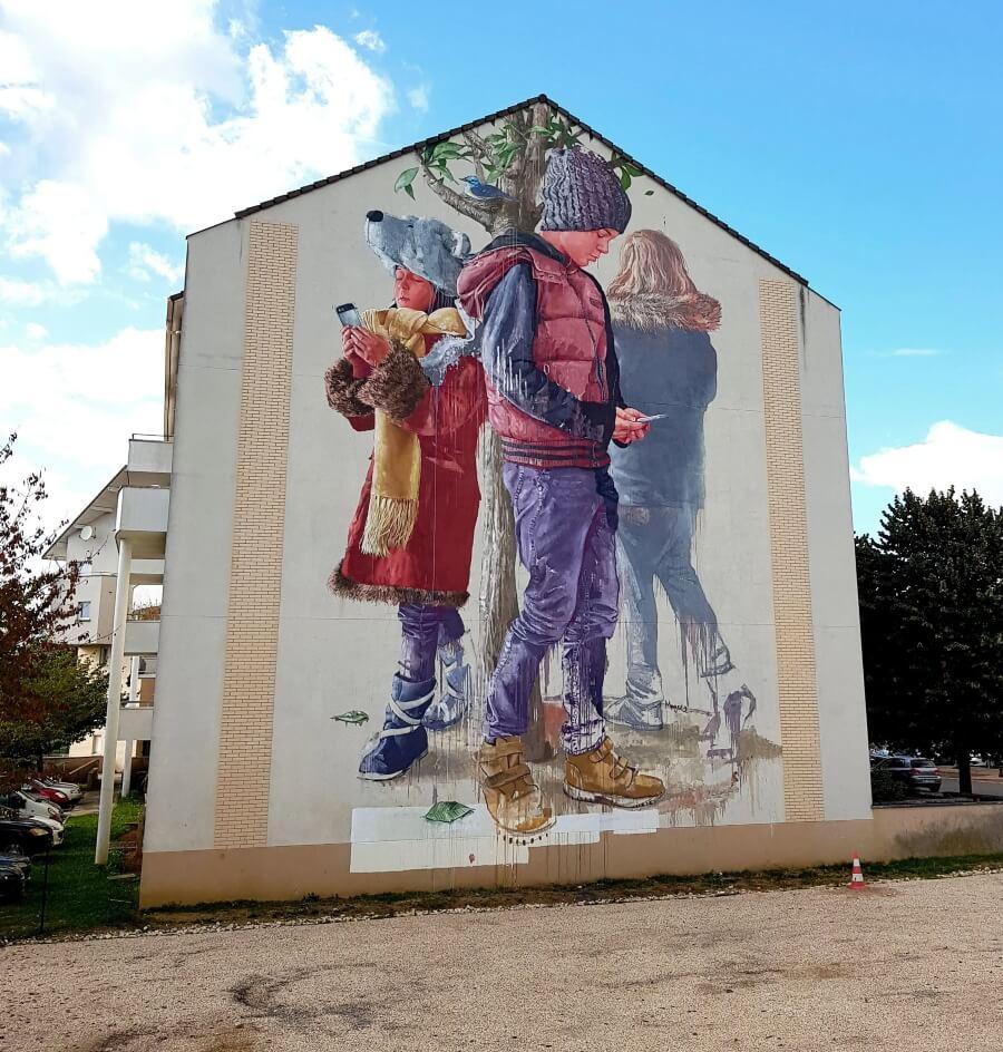 Murales de instantes imaginativos