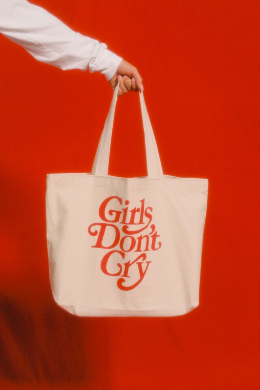 tote bag color rojo Girls Don't Cry