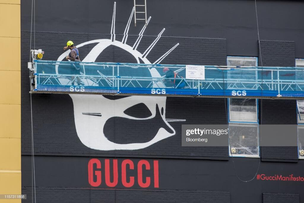 street art wall Gucci Manifesto en Londres
