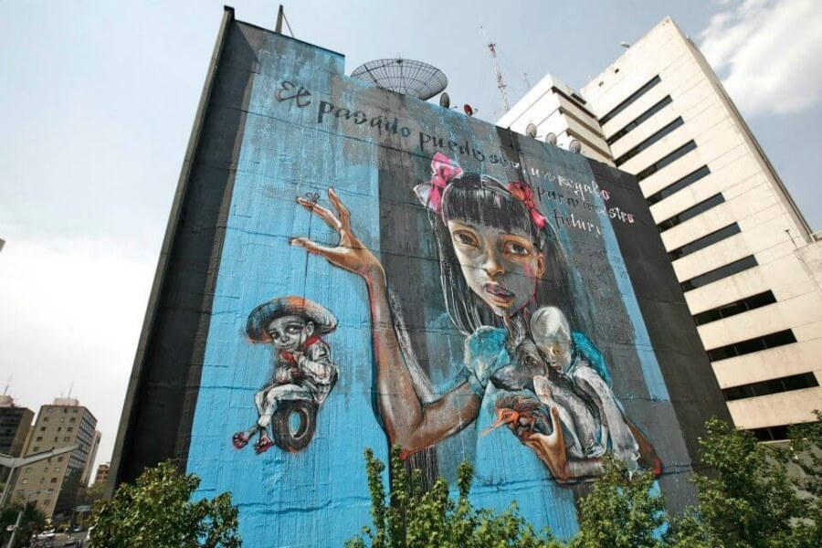 Mural de Herakut para All City Canvas