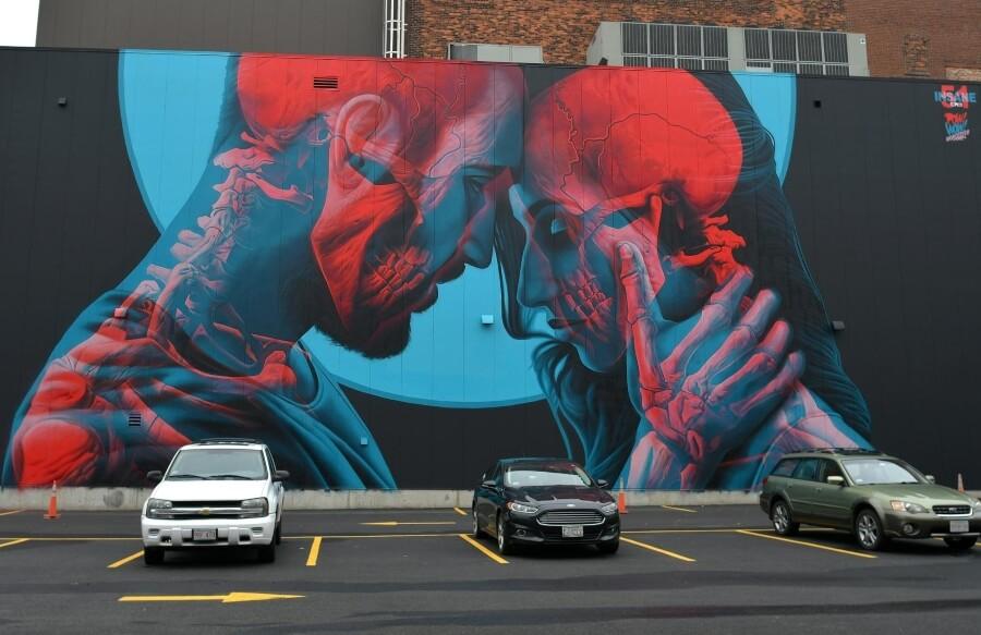 Mural de Insane 51 hecho para Pow! Wow!