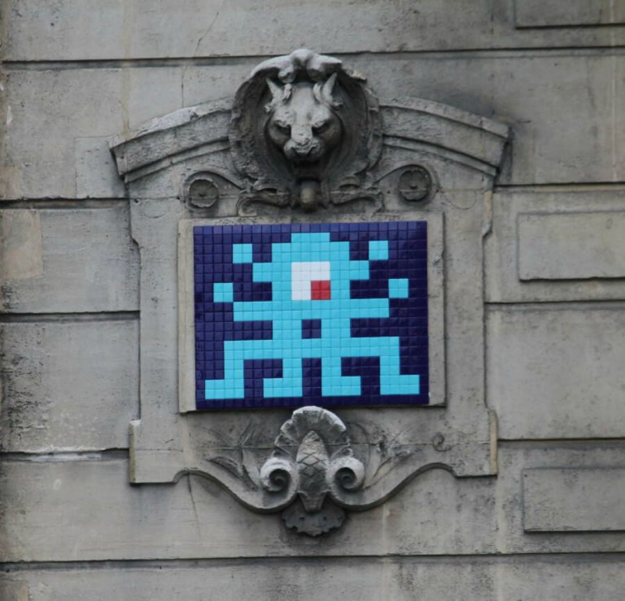 arte urbano de Invader en París