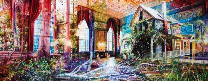 Jacob Brostrup y sus mundos multidimensionales de óleo