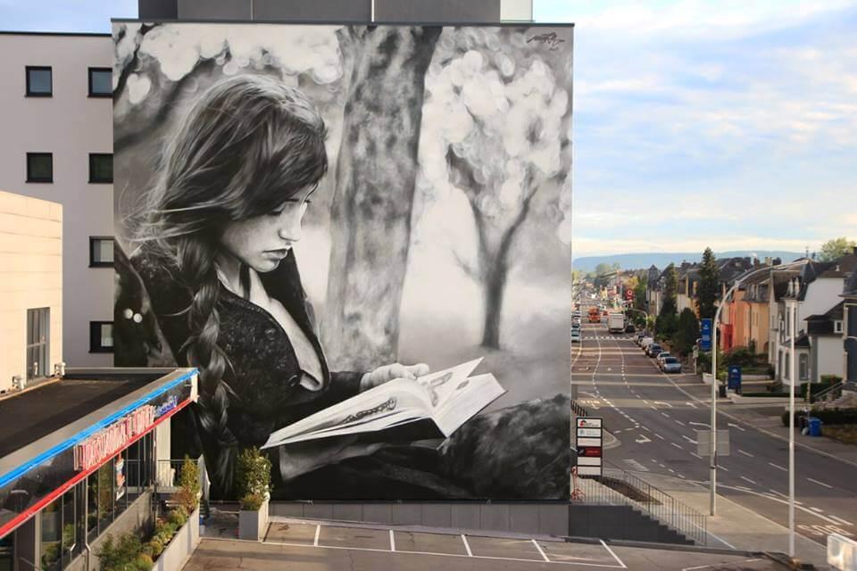 La armonía del despertar, mural de Mantra en Luxemburgo