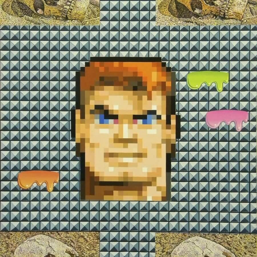 obra pixel inspirada en videojuegos