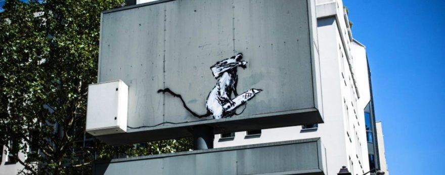 Obra de Banksy fue robada del Centro Pompidou