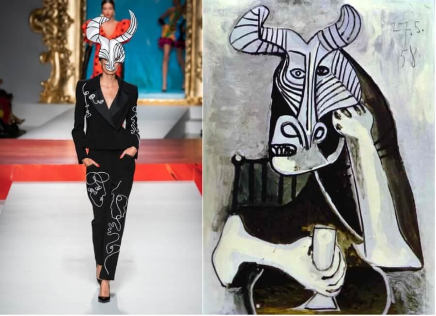 Las obras de Picasso en la colección de Moschino