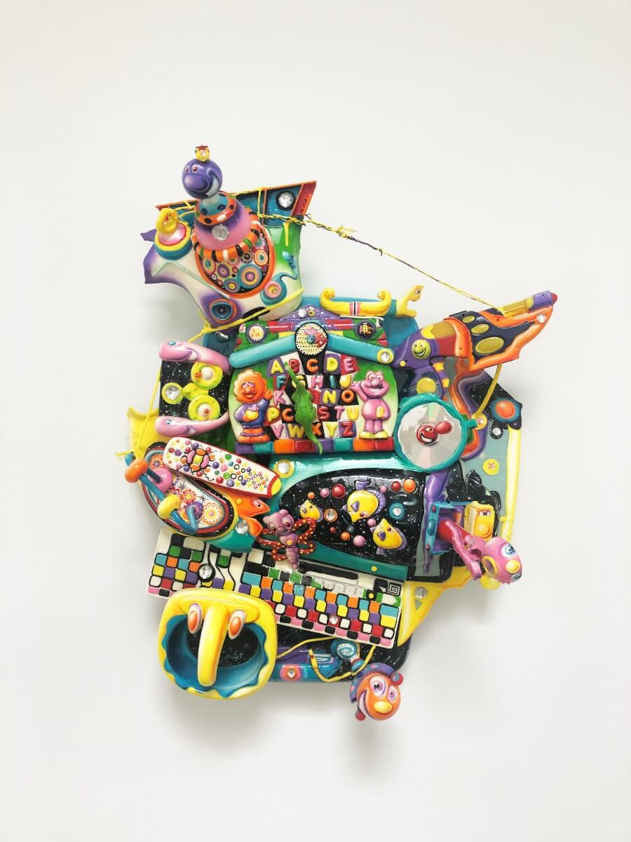 obra de arte hecha con basura