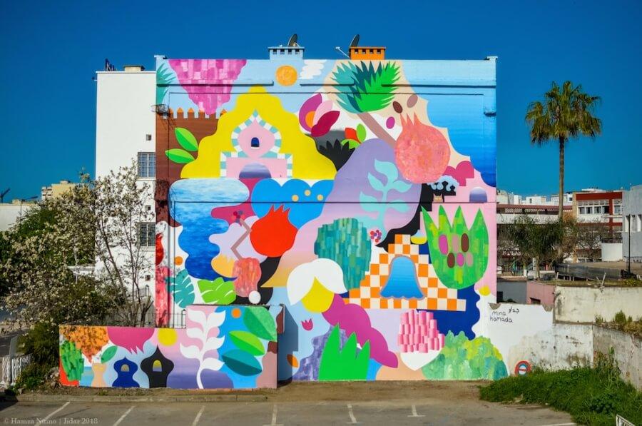 Mural por Mina Hamada