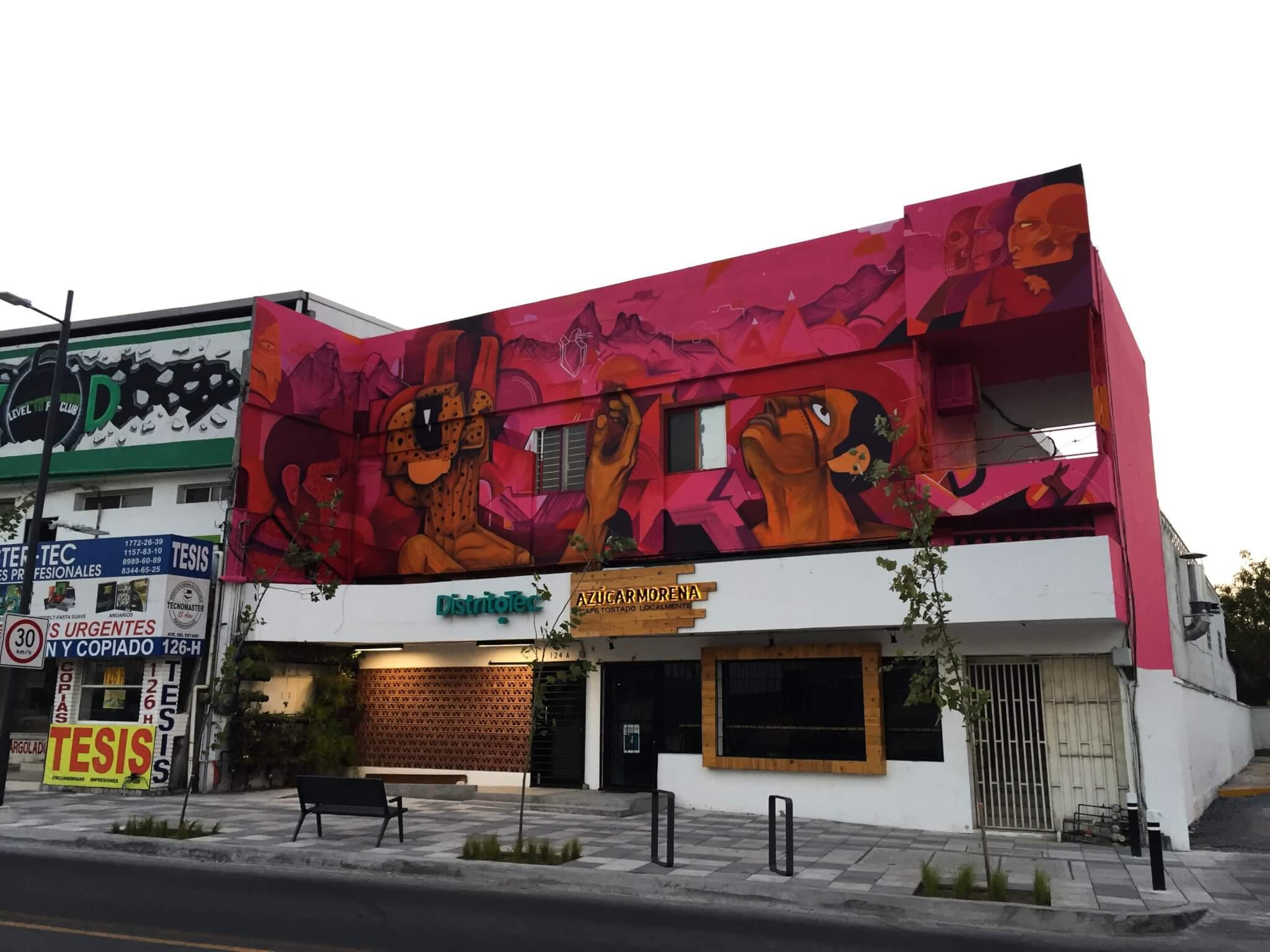 mural de Saner en DistritoTec