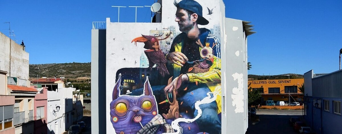 Sebas Velasco, street art, arquitectura y retratos