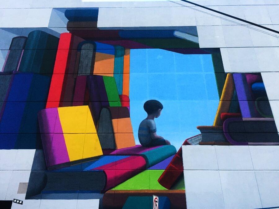 mural La Bibliothèque.