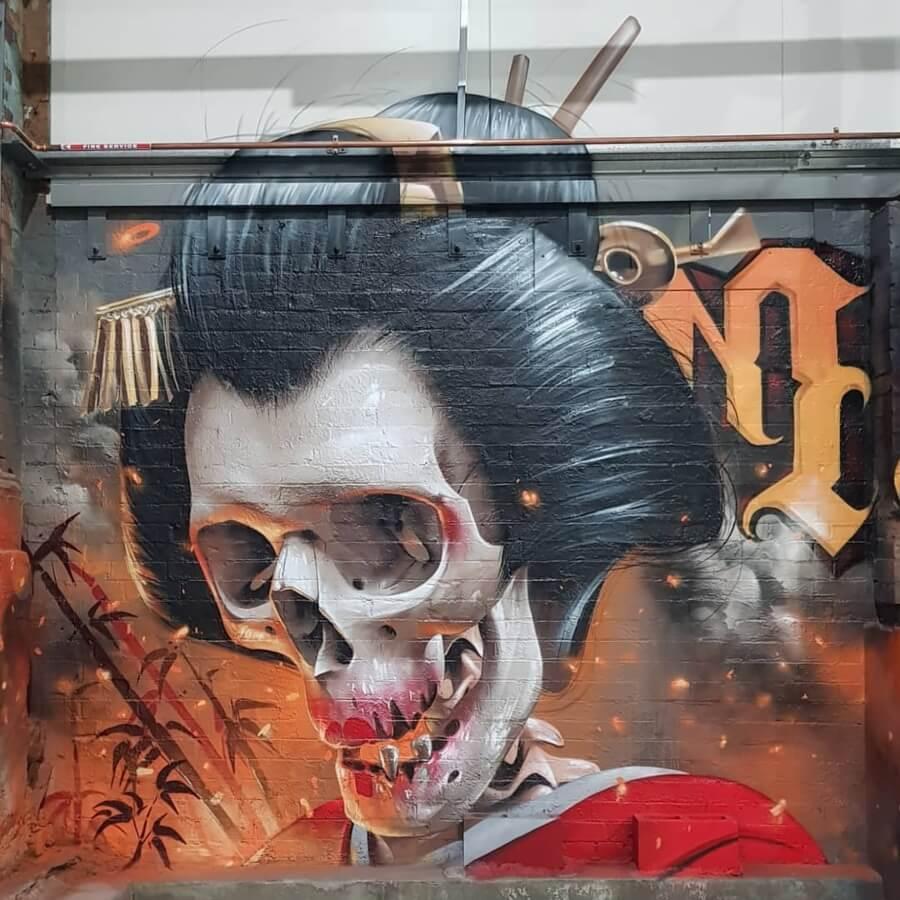 Street art realista