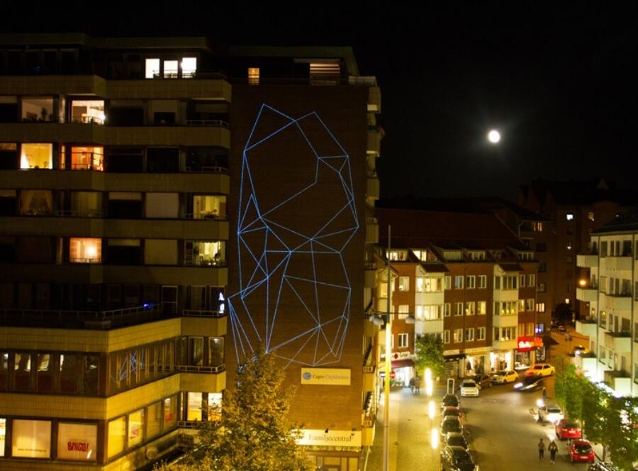 Mural creado en Suecia