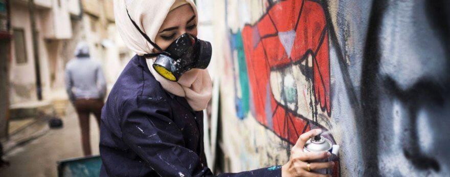 Street art que exalta el empoderamiento femenino