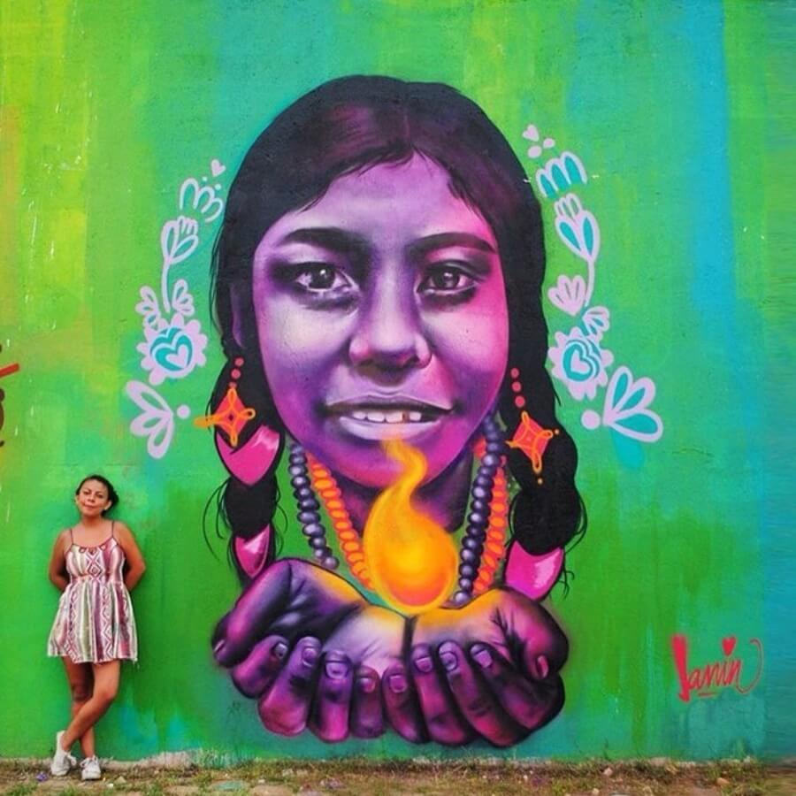 Street art que exalta el feminismo