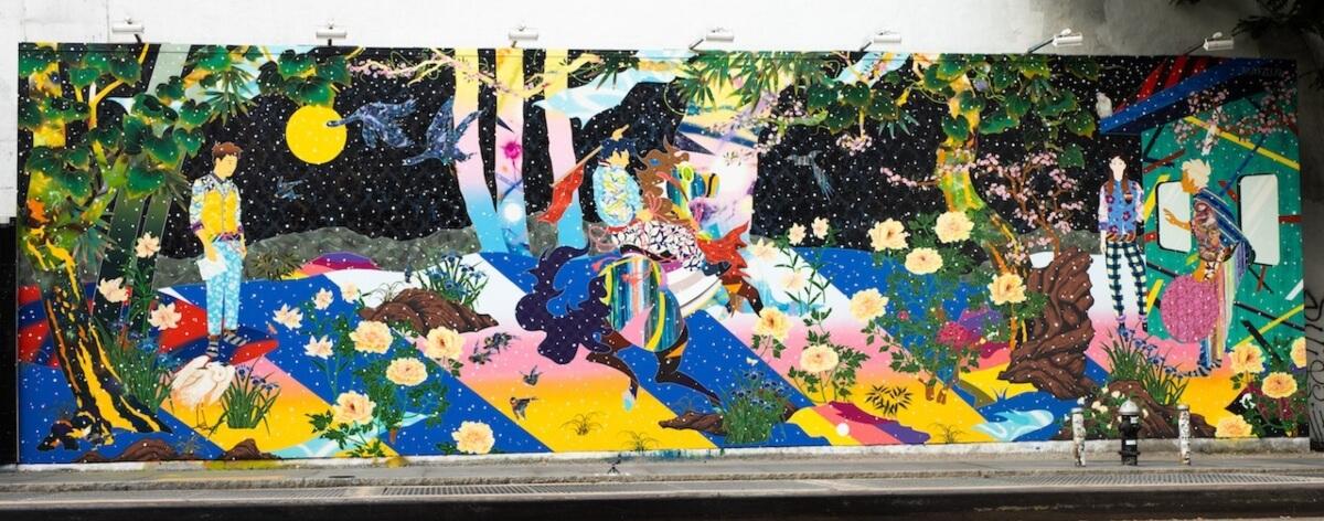 Tomokazu Matsuyama pintó el Houston Bowery Wall