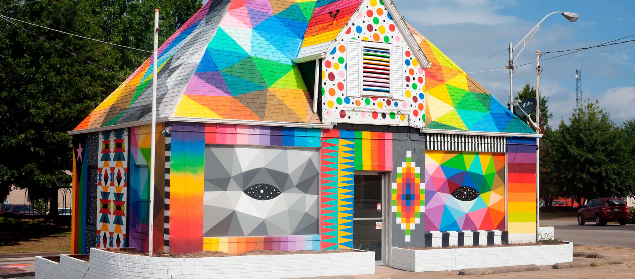 mural de Okuda San Miguel en The Unexpected 2016