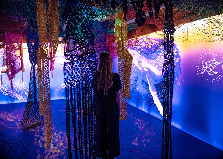 instalación artística contra el cambio climático