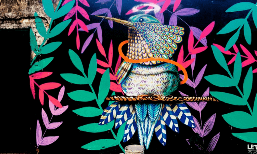 Latin American street artist Letop